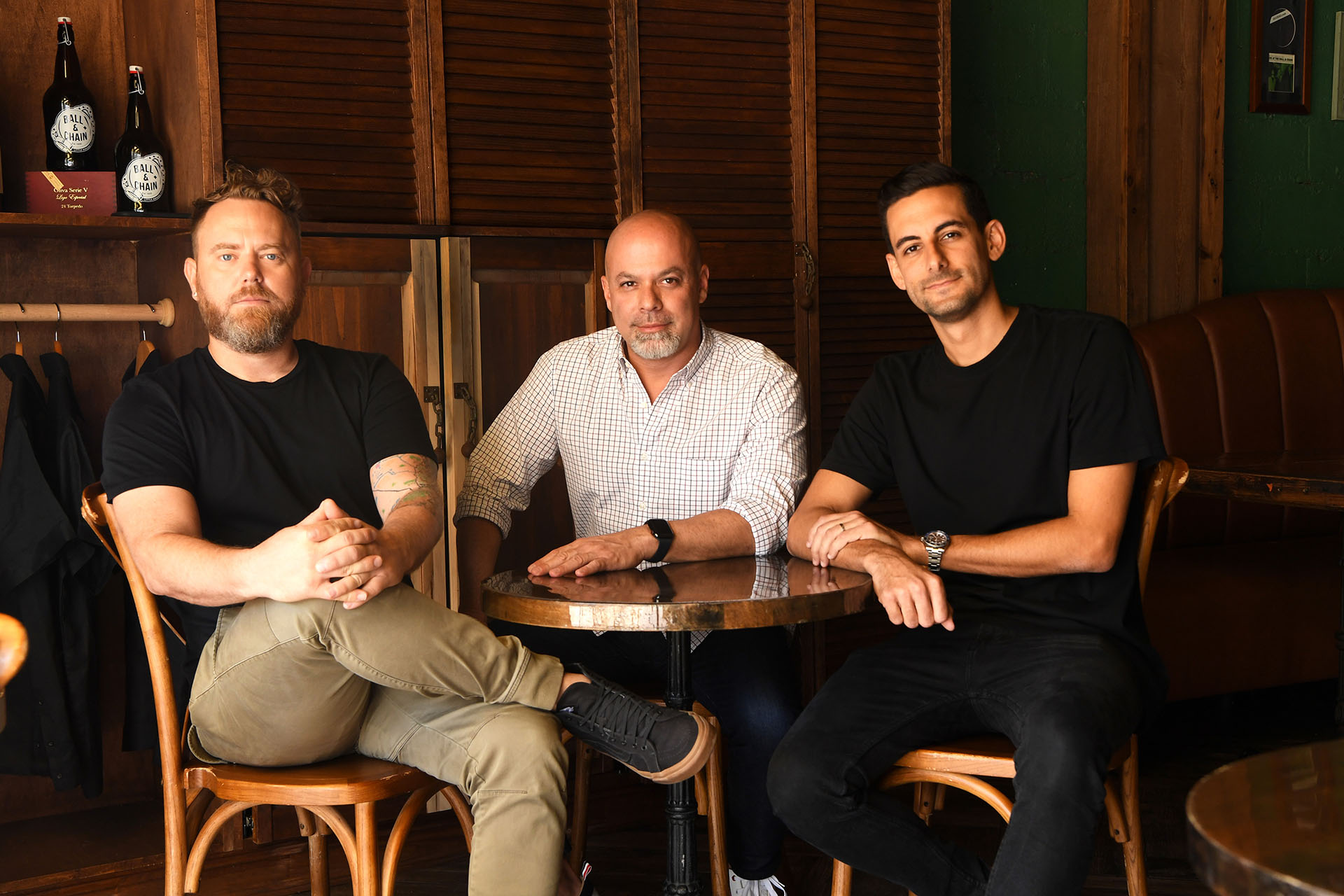 From left to right: Jason Wolske, Executive Creative Director - Luis Casamayor, Co-Founder, President & Chief Creative Officer - Danny Alvarez, Executive Creative Director