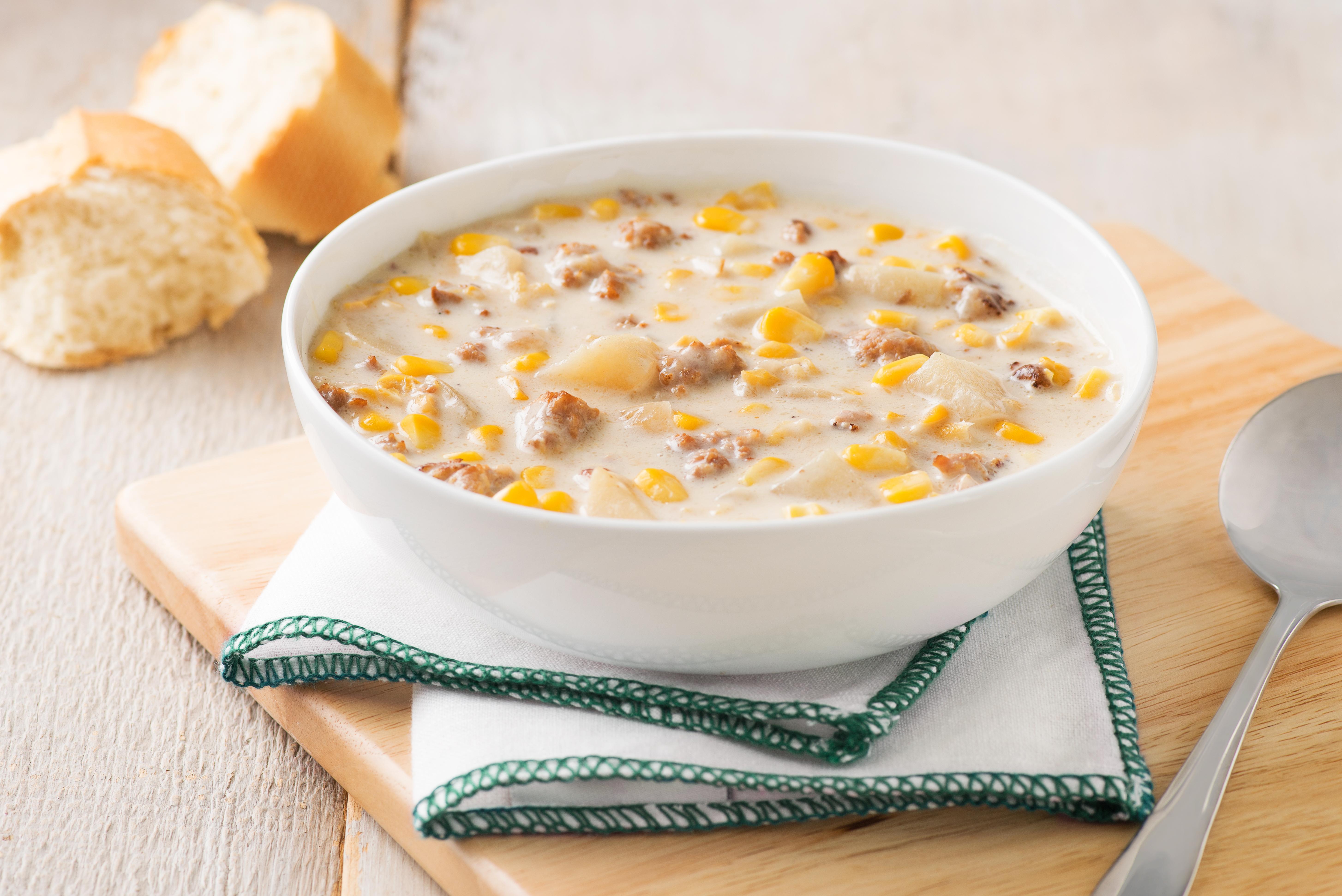 Corn, Potato and Sausage Chowder