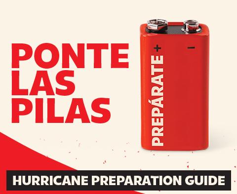 Ponte las pilas. Hurricane preparation guide